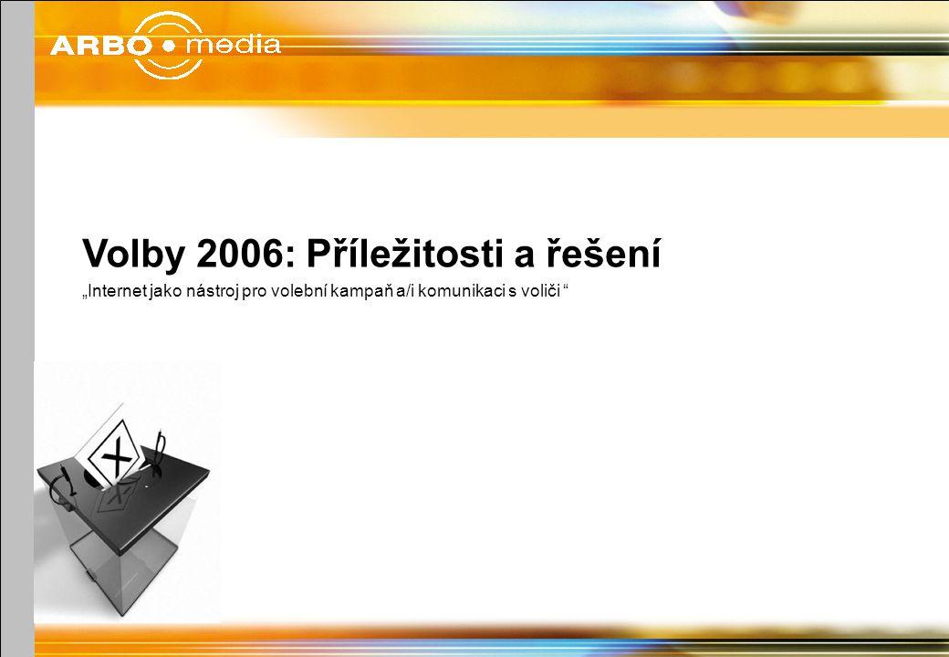"""Volby 2006: Příležitosti a řešení """"Internet jako nástroj pro volební kampaň a/i komunikaci s voliči"""