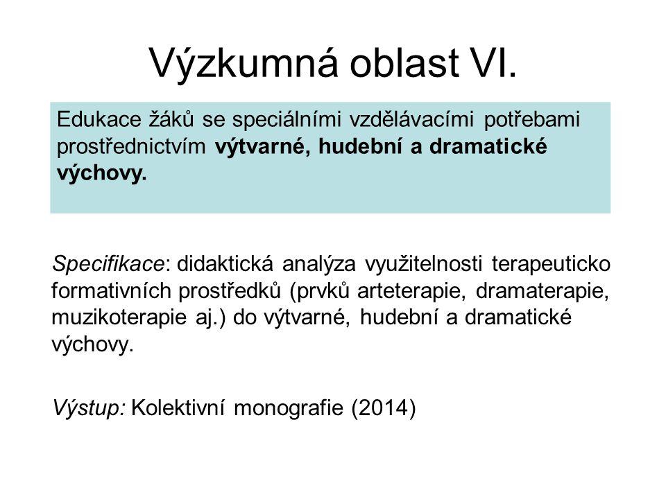 Výzkumná oblast VI.