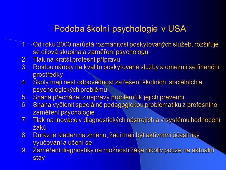 Školní psychologie v Evropě.