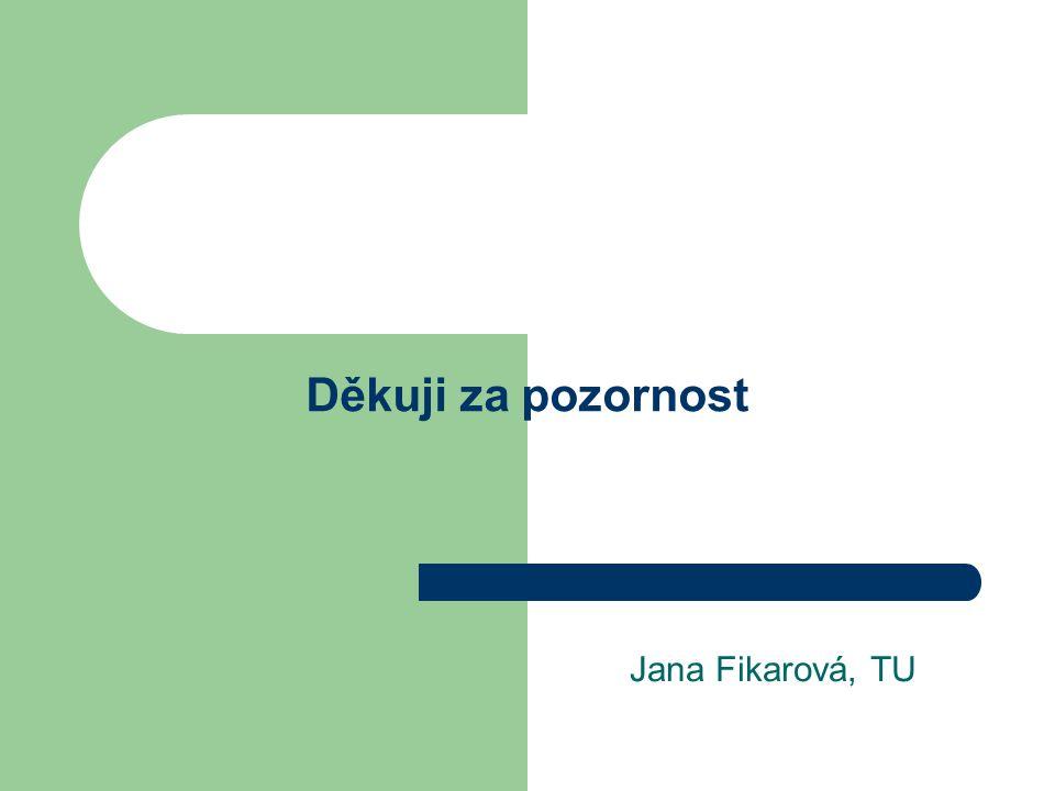 Děkuji za pozornost Jana Fikarová, TU