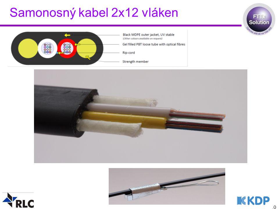 10 Samonosný kabel 2x12 vláken