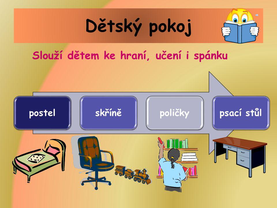 Dětský pokoj postelskříněpoličkypsací stůl Slouží dětem ke hraní, učení i spánku
