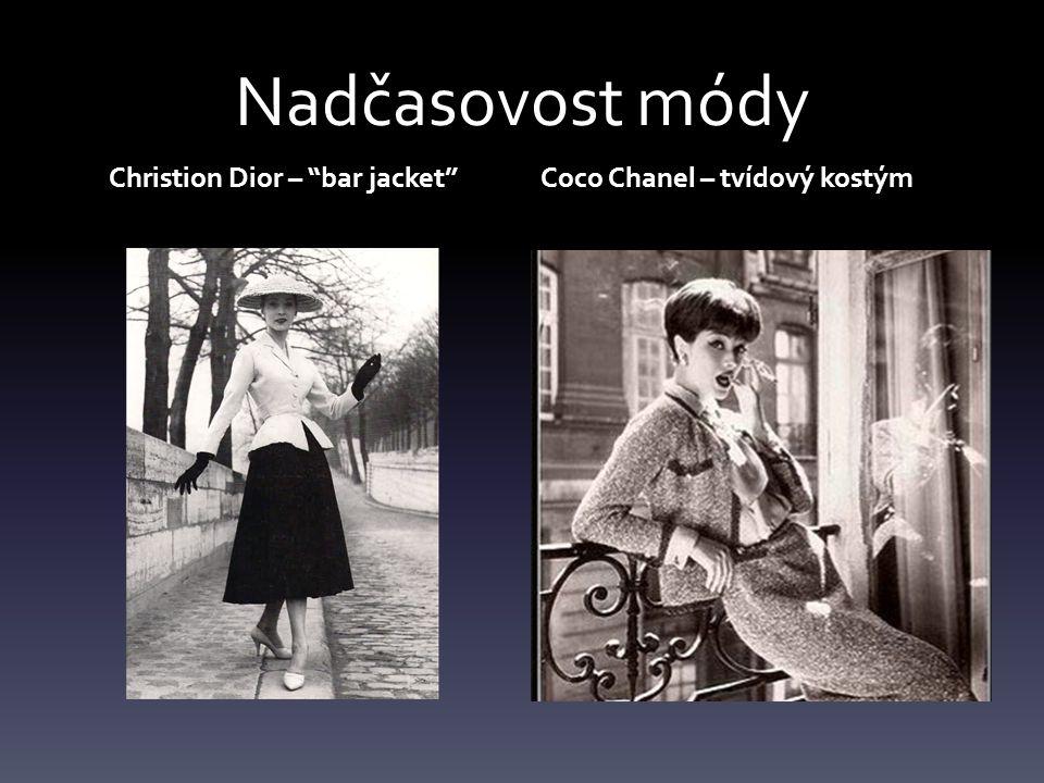 Nadčasovost módy Christion Dior – bar jacket Coco Chanel – tvídový kostým
