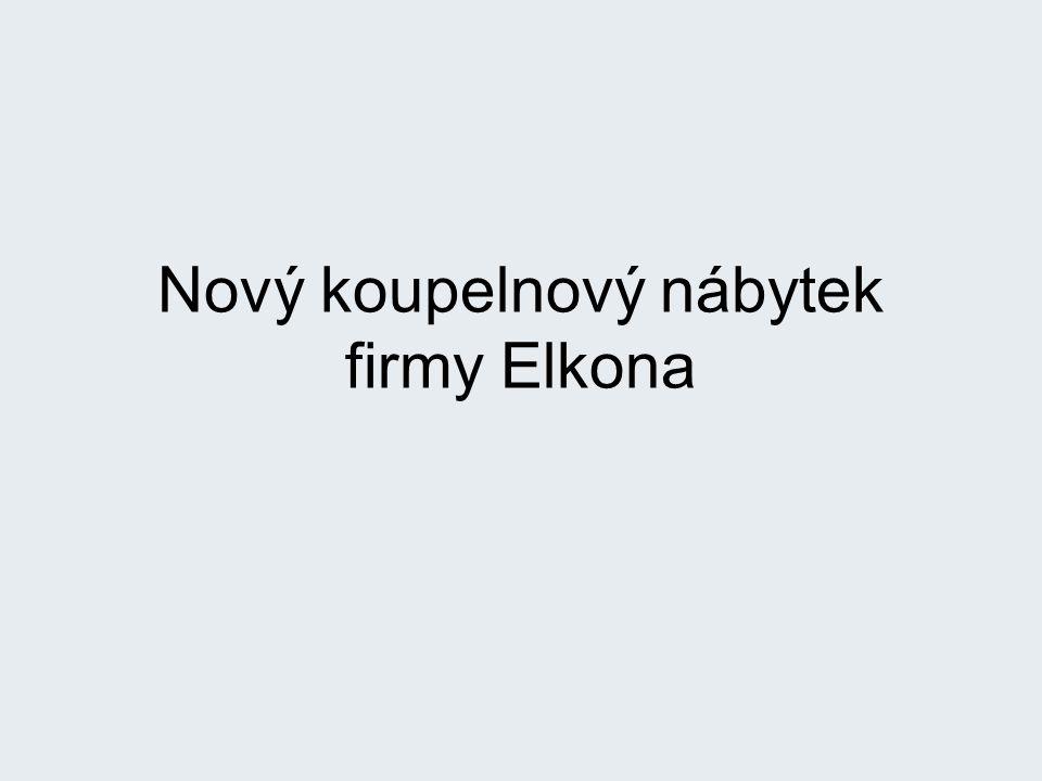 Nový koupelnový nábytek firmy Elkona