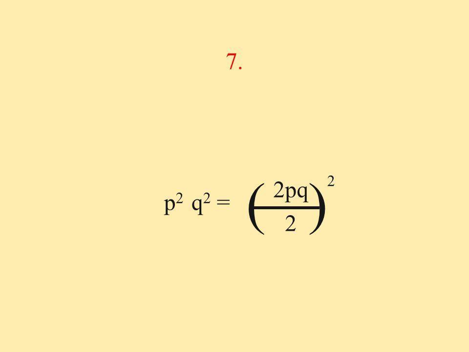 p 2 q 2 = 7. 2pq 2 ( ) 2