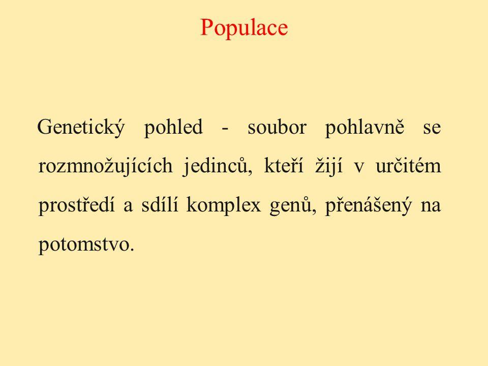 Soubor genů (daného druhu) v populaci.Všechny geny všech členů populace.