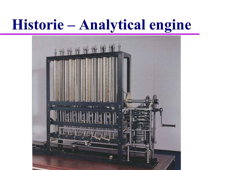 "Historie  1.program – děrný štítek (Analytical engine)  1.dokončený automatický kalkulátor – 1890 Herman Hollerith – ""tabulátor  1.programovatelný počítač – 1934-1938 Konrád Zuse – binární, elektronkový  1.reléový počítač – 1939 ""Z3 Konrád Zuse – plovoucí řádová čárka"