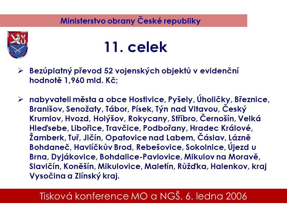 Tisková konference MO a NGŠ, 6. ledna 2006 Ministerstvo obrany České republiky 11.