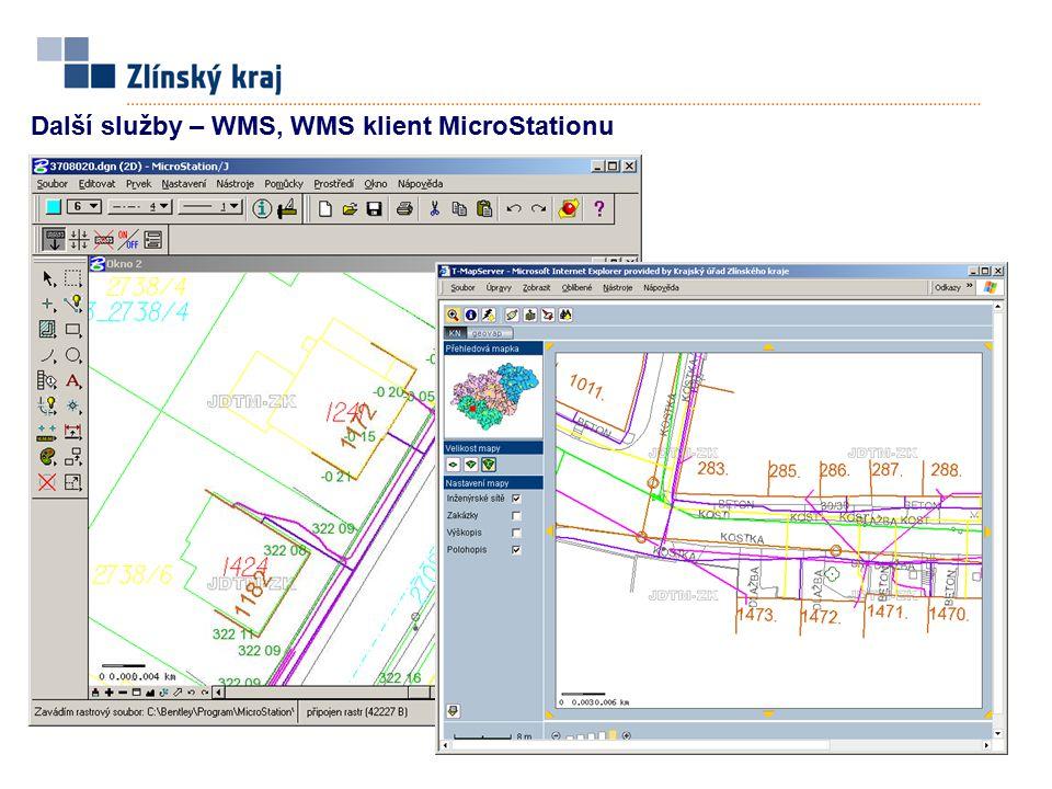 Další služby – WMS, WMS klient MicroStationu