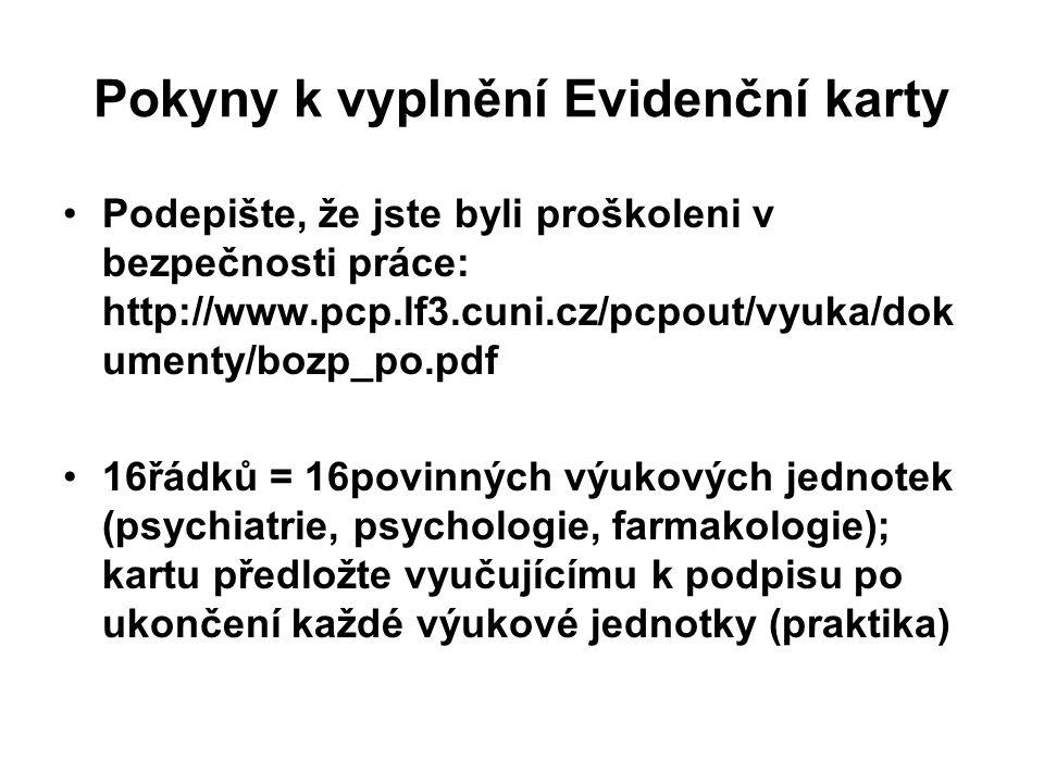 Možnosti nahrazování Kontaktujte bankovska@pcp.lf3.cuni.cz