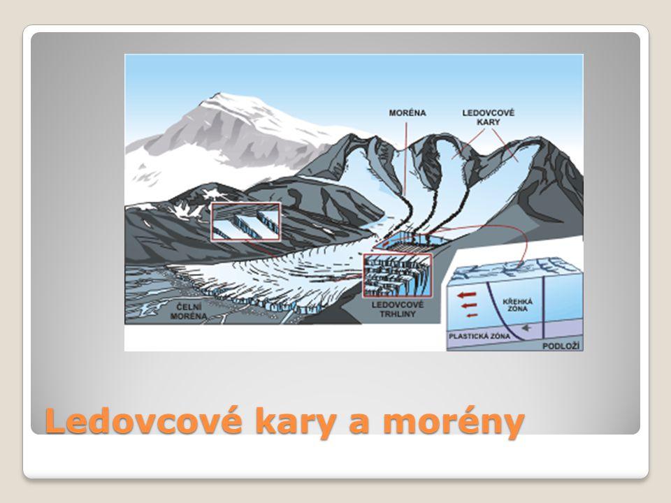 Ledovcové kary a morény