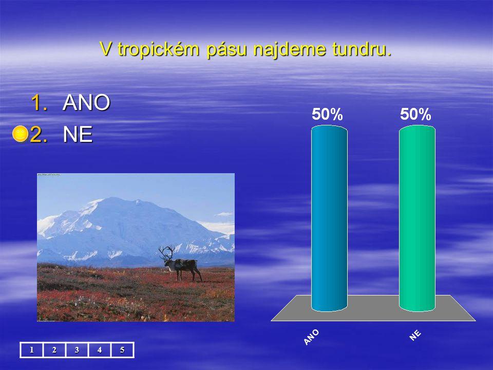 Klokan žije v subtropickém pásu. 12345 1.ANO 2.NE