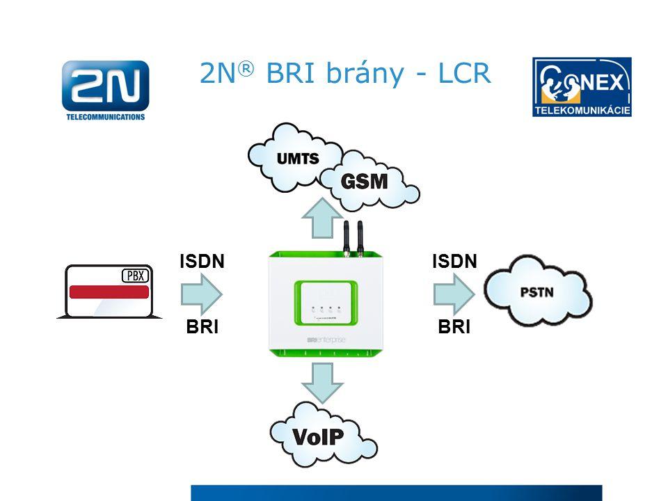 2N ® BRI brány - LCR ISDN BRI ISDN BRI