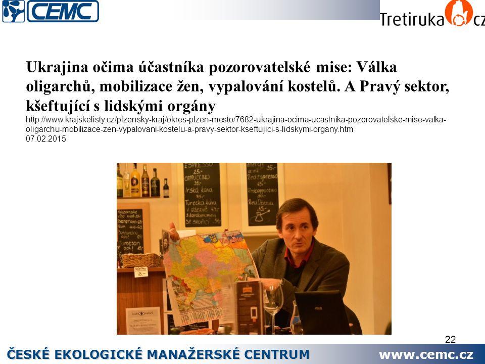 22 Ukrajina očima účastníka pozorovatelské mise: Válka oligarchů, mobilizace žen, vypalování kostelů. A Pravý sektor, kšeftující s lidskými orgány htt