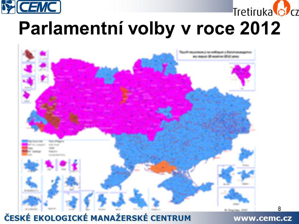 8 Parlamentní volby v roce 2012 ČESKÉ EKOLOGICKÉ MANAŽERSKÉ CENTRUM www.cemc.cz