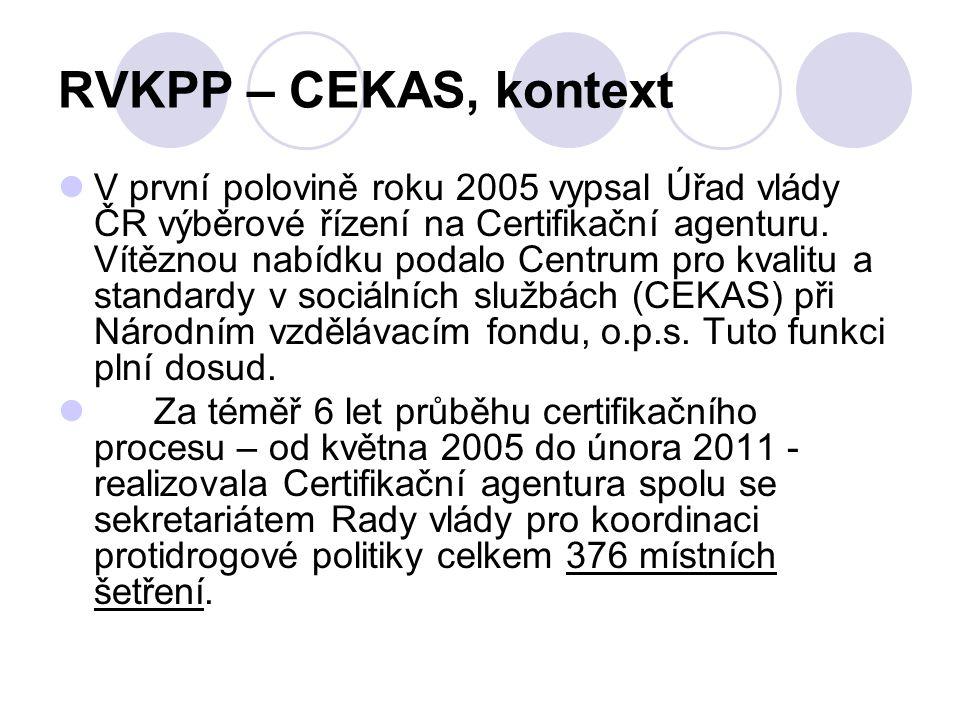 RVKPP – CEKAS, kontext V první polovině roku 2005 vypsal Úřad vlády ČR výběrové řízení na Certifikační agenturu. Vítěznou nabídku podalo Centrum pro k