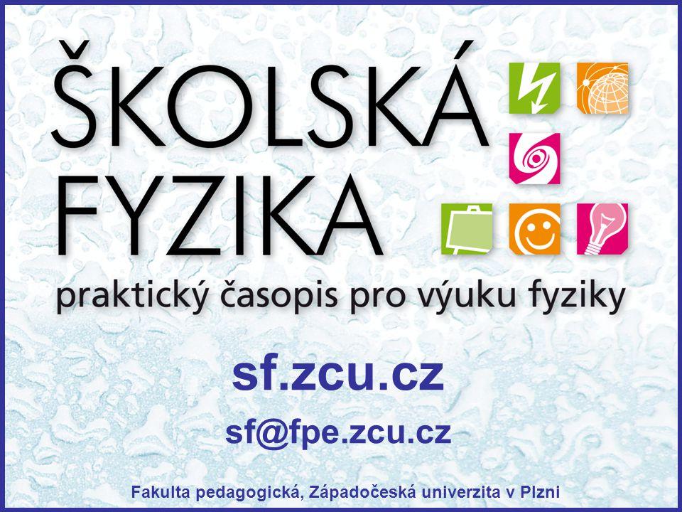 sf.zcu.cz sf@fpe.zcu.cz Fakulta pedagogická, Západočeská univerzita v Plzni