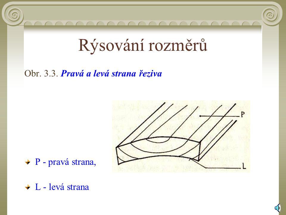 3.1.3Rýsování rozměrů Na hrubé přířezy z masivního dřeva i z konstrukčních desek se rýsují rozměry s předepsanými nadmírami.