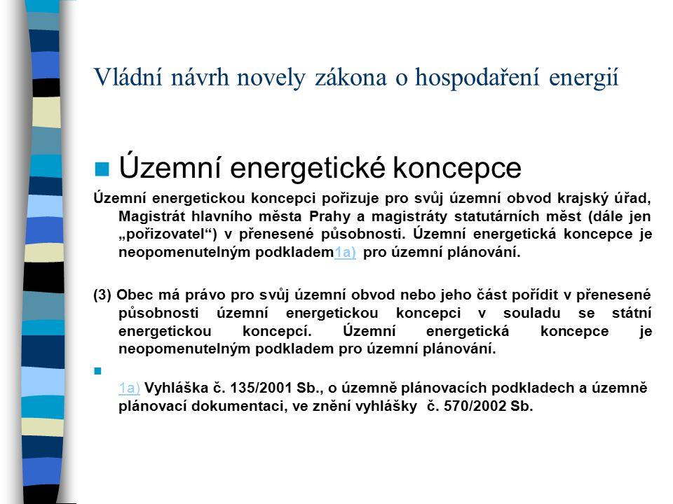 """Vládní návrh novely zákona o hospodaření energií Národní program hospodárného nakládání s energií a využívání jejích obnovitelných a druhotných zdrojů Národní program hospodárného nakládání s energií a využívání jejích obnovitelných a druhotných zdrojů (dále jen """"Program ) je dokument vyjadřující cíle v oblasti zvyšování účinnosti užití energie, snižování energetické náročnosti a využití jejích obnovitelných a druhotných zdrojů v souladu se schválenou státní energetickou koncepcí a zásadami udržitelného rozvoje."""