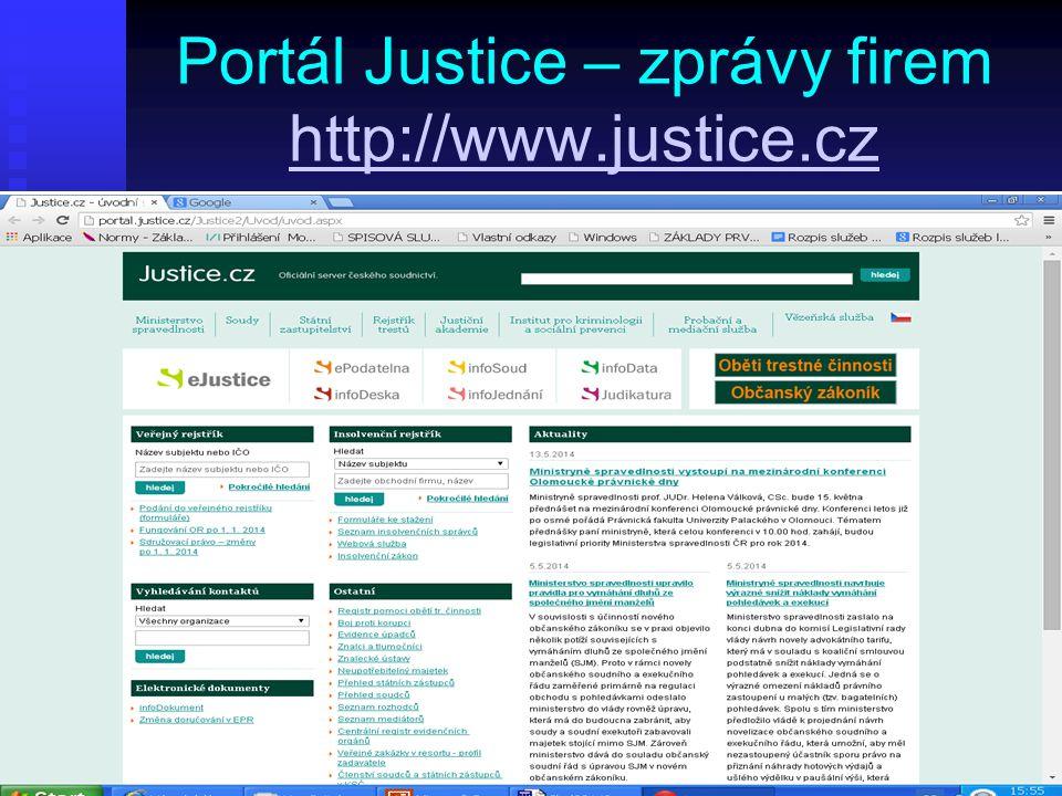 Portál Justice – zprávy firem http://www.justice.cz http://www.justice.cz
