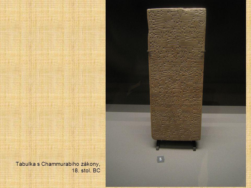 Tabulka s Chammurabiho zákony, 18. stol. BC