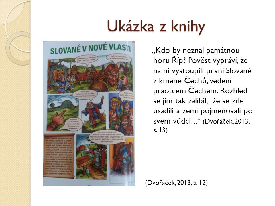 """Ukázka z knihy """"Kdo by neznal památnou horu Říp."""