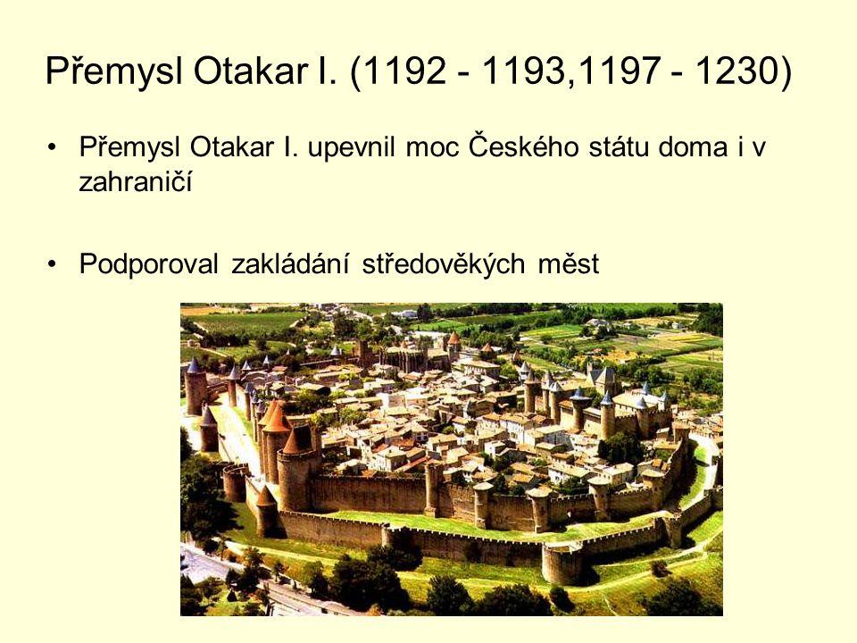 Přemysl Otakar I.získal jako první český panovník královský titul dědičně.