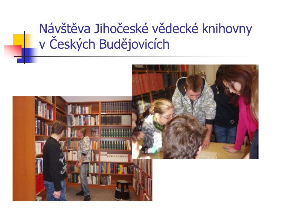 Návštěva Jihočeské vědecké knihovny v Českých Budějovicích