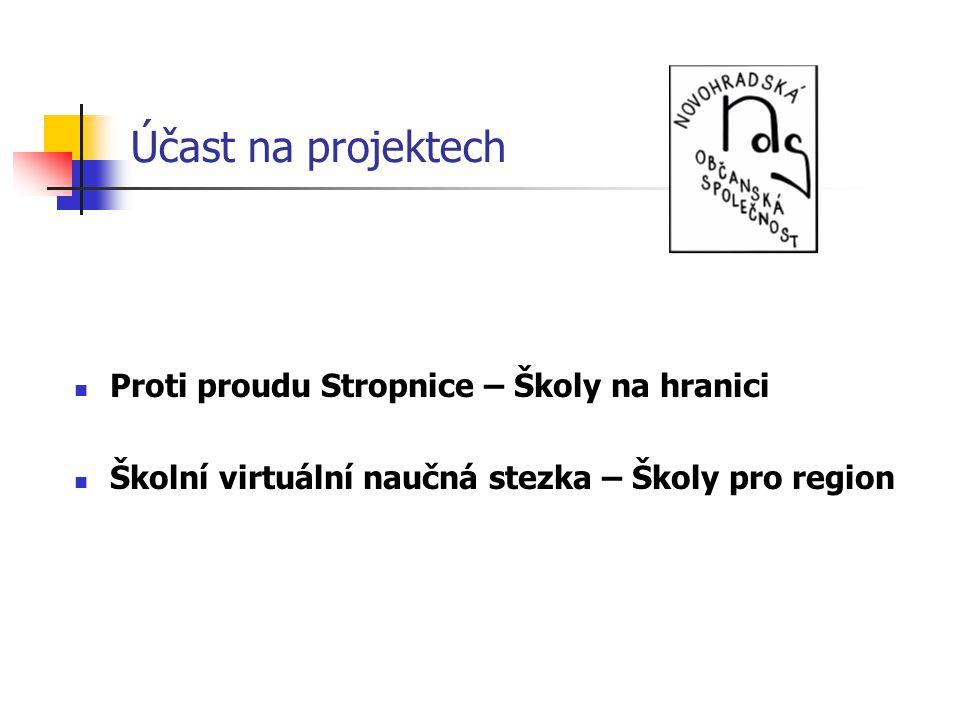 Účast na projektech Proti proudu Stropnice – Školy na hranici Školní virtuální naučná stezka – Školy pro region