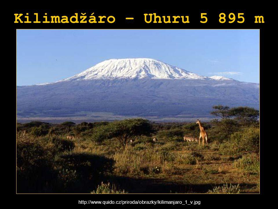 Kilimadžáro – Uhuru 5 895 m http://www.quido.cz/priroda/obrazky/kilimanjaro_1_v.jpg