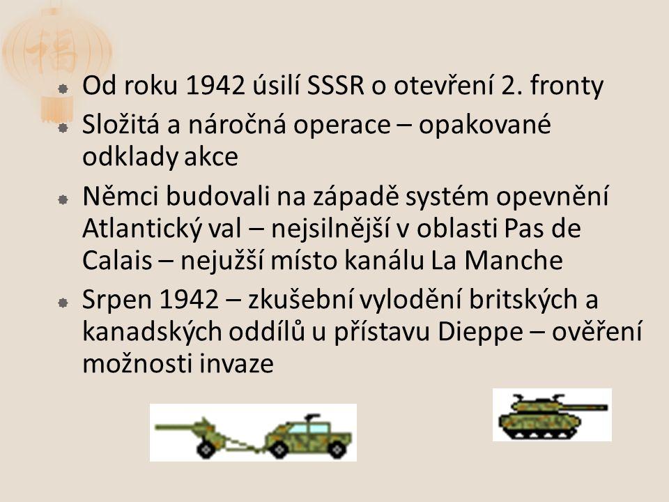  Od roku 1942 úsilí SSSR o otevření 2.