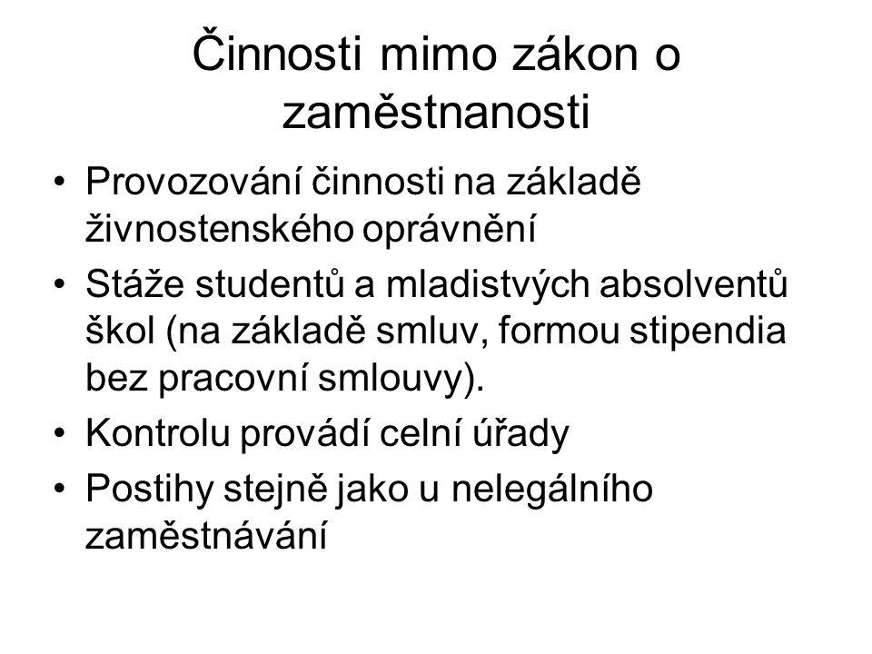 Cizinci s živnostenským oprávněním Zákon č.