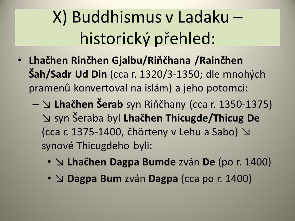 X) Buddhismus v Ladaku – historický přehled: Lhačhen Rinčhen Gjalbu/Riňčhana /Rainčhen Šah/Sadr Ud Din (cca r. 1320/3-1350; dle mnohých pramenů konver