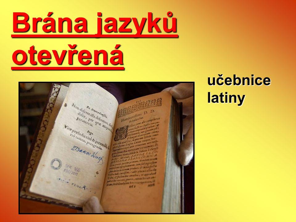 Brána jazyků otevřená učebnice latiny