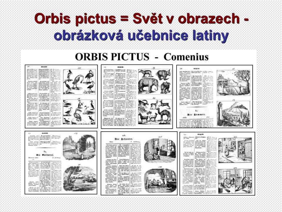 Orbis pictus = Svět v obrazech - obrázková učebnice latiny