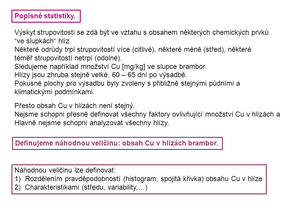 Definice pomocí rozdělení pravděpodobností.