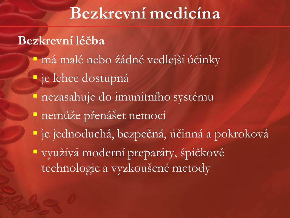 Bezkrevní medicína v praxi Zagreb, Hrvatska, konec srpna 2005, Fakultní nemocnice, Gynekologicko-porodnická klinika Pacientka 28letá nullipara byla přijata k hospitalizaci v 39.