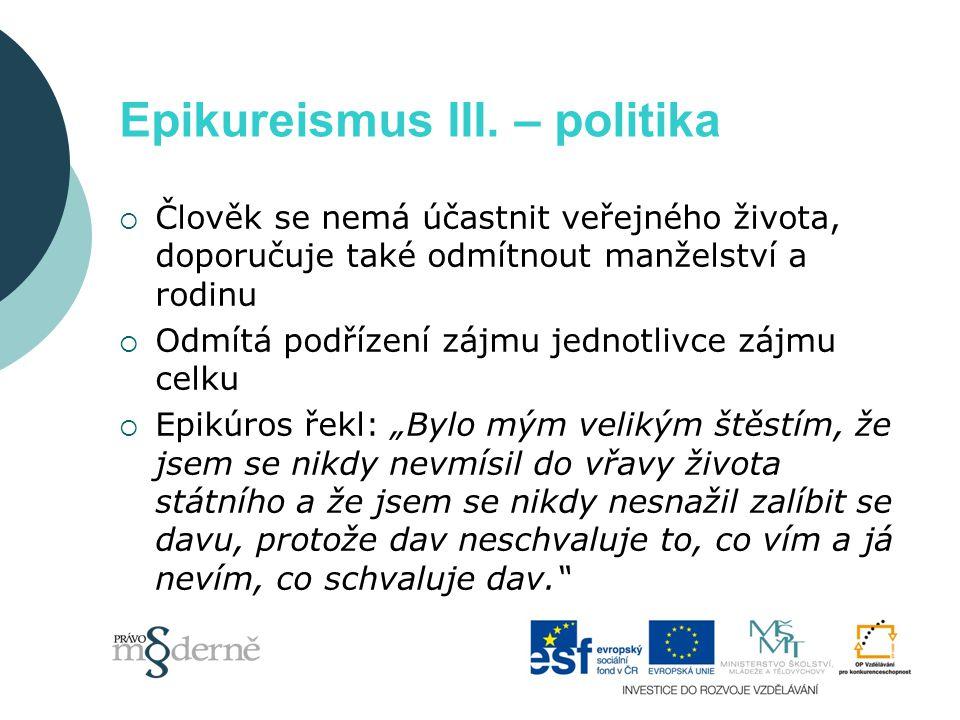 Epikureismus III.