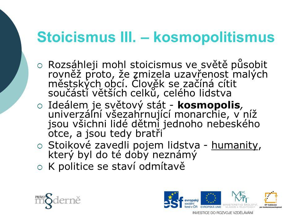 Stoicismus III.