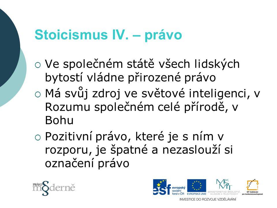 Stoicismus IV.