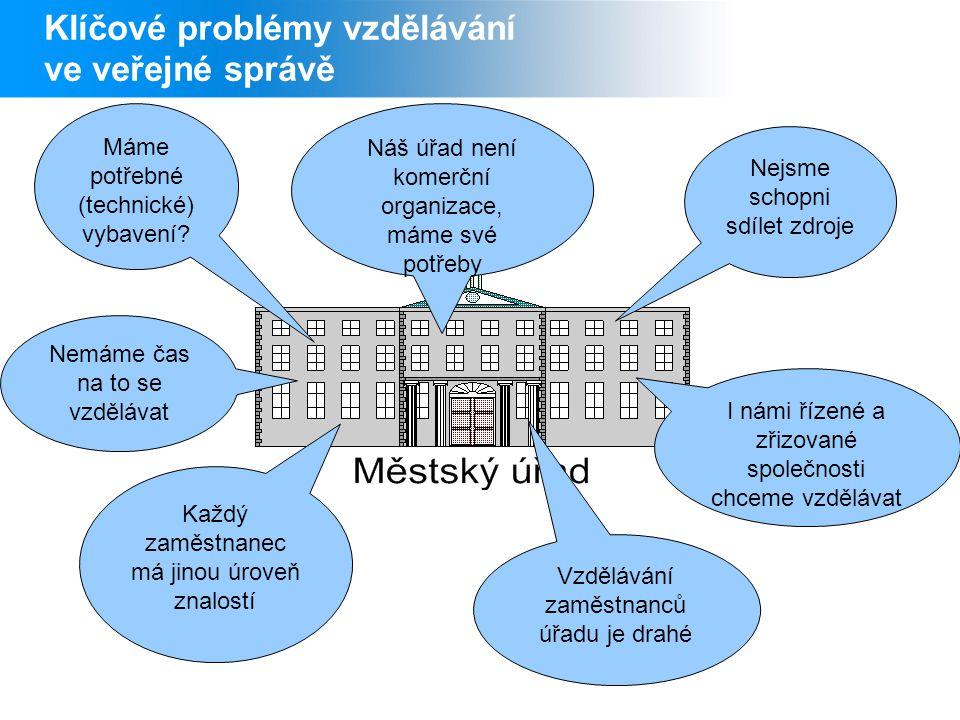 Klíčové problémy vzdělávání ve veřejné správě Máme potřebné (technické) vybavení.