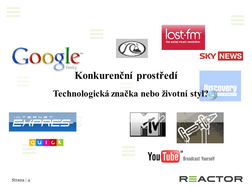 Strana | 4 Konkurenční prostředí Technologická značka nebo životní styl