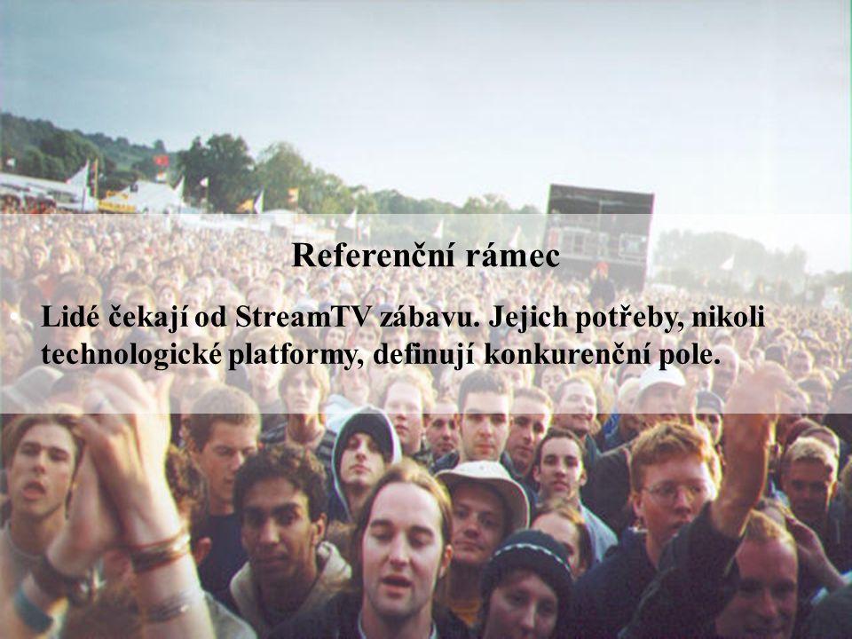Strana | 5 Referenční rámec Lidé čekají od StreamTV zábavu.