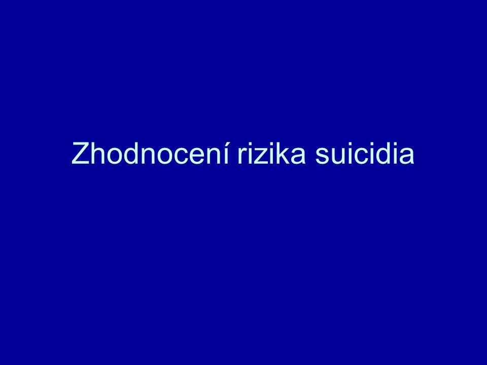 Zhodnocení rizika suicidia