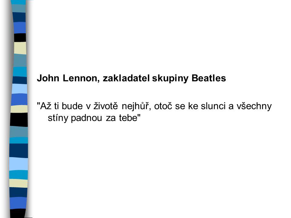 John Lennon, zakladatel skupiny Beatles