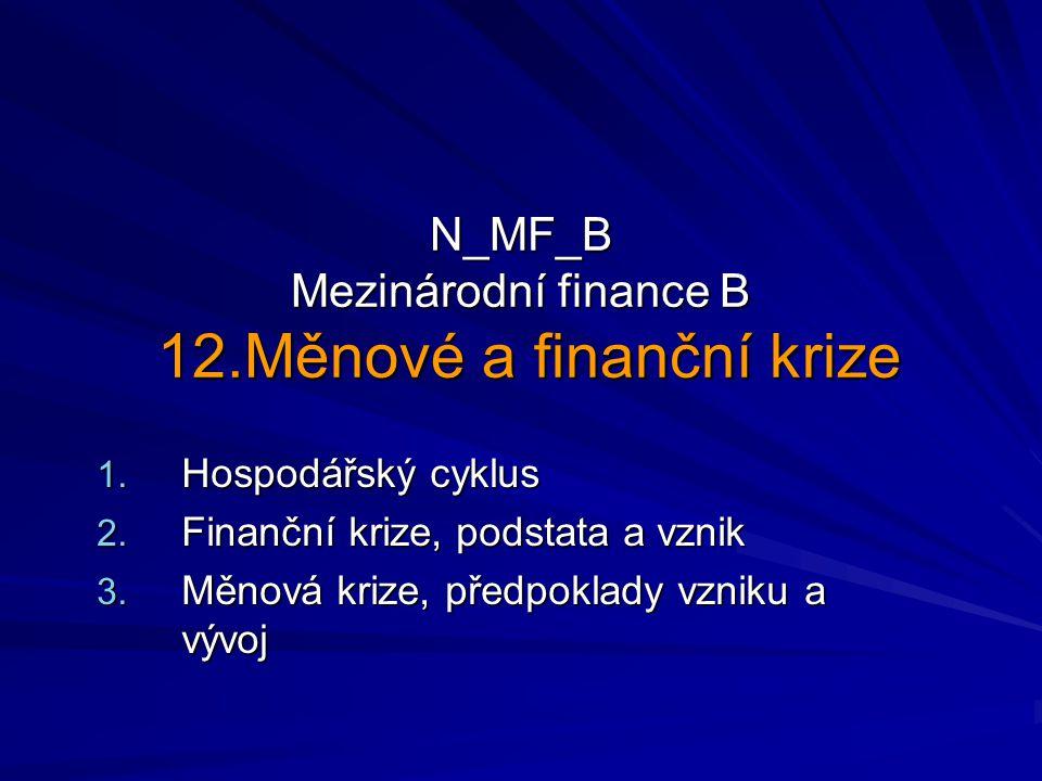N_MF_B Mezinárodní finance B 12.Měnové a finanční krize 1.