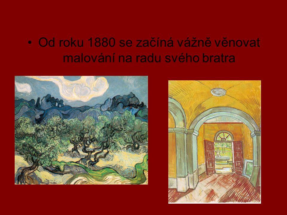 Od roku 1880 se začíná vážně věnovat malování na radu svého bratra
