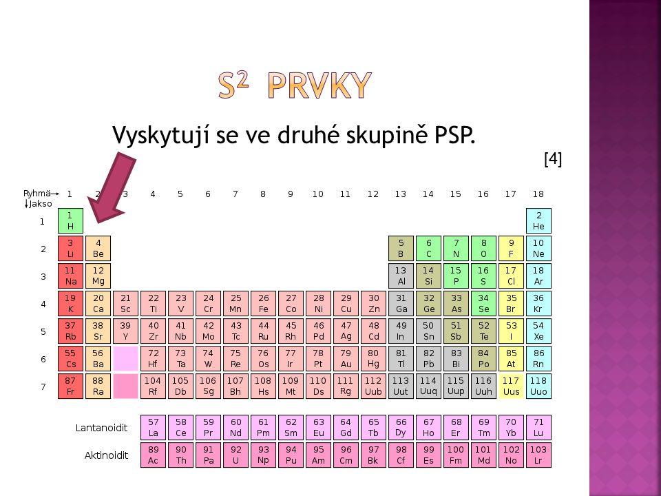Vyskytují se ve druhé skupině PSP. [4]