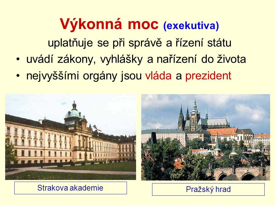 Vláda vrcholný orgán výkonné moci řídí všechny oblasti společnosti (chod státu ) Kdo tvoří vládu.