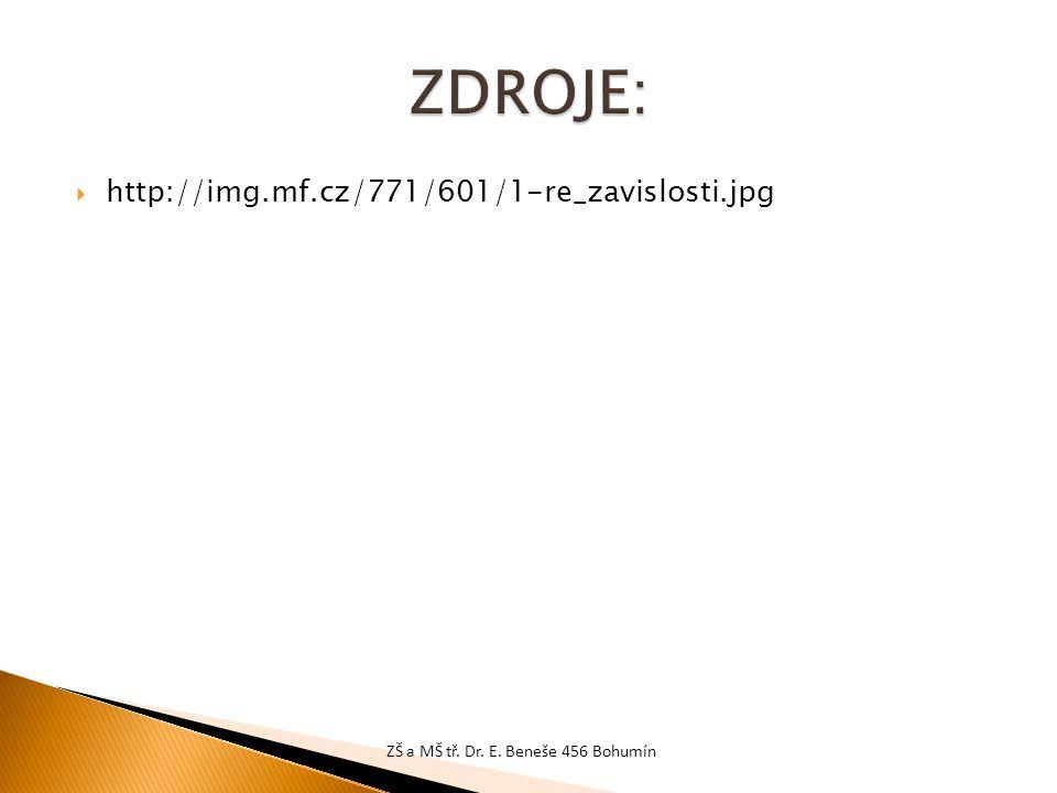  http://img.mf.cz/771/601/1-re_zavislosti.jpg ZŠ a MŠ tř. Dr. E. Beneše 456 Bohumín